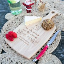 Personalised Engraved Christmas Wooden Chopping, Cheese Serving Board Present