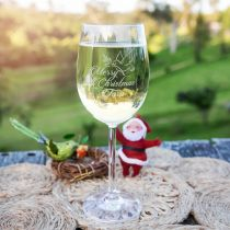 Personalised Engraved Christmas Jingle Juice Wine Glass Present