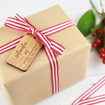 Personalised Engraved wooden Christmas Gift Tags for Presents