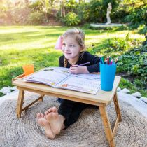 Personalised Engraved Name Wooden Creative Playtime Foldable Table with Draw