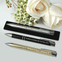 Engraved Designer Pen with Velvet Pouch