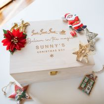 Personalised Engraved Christmas Day Wooden Box