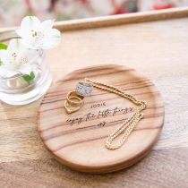Personalised Engraved Wooden Trinket Dish Christmas Present