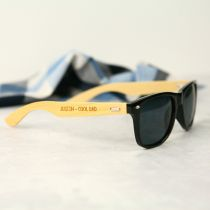 Personalised Engraved Wooden & Black Sunglasses Father's Day Present