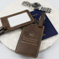 Personalised Engraved Father's Day Luggage Tag Present