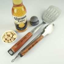 Personalised Engraved Christmas BBQ Set Present