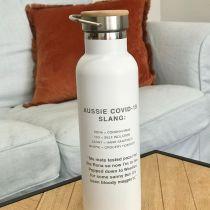 Personalised Engraved Aussie Slang Isolation Juice Bottle Present
