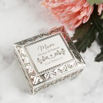 Personalised Engraved Mother's Day Silver Jewellery Box Present