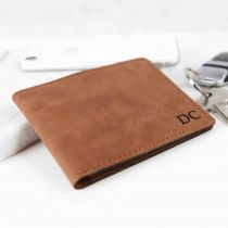 Personalised Engraved Leatherette Rawhide Wallet Father's Day Present