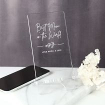 Personalised Engraved Mother's Day Engraved Acrylic iPhone Holder Present