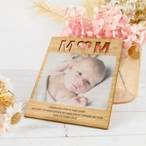 Personalised Colour Printed Wooden Mother's Day square Bamboo Card with Magnet