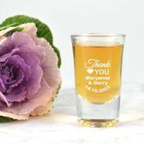 Printed Premium Wedding Shot Glass Favour