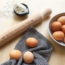 Personalised Engraved Wooden Mother's Day Rolling Pin Present
