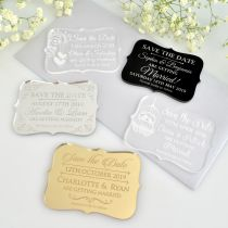 Personalised Engraved Acrylic Wedding 'Save the Date' Cards
