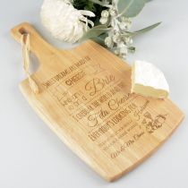 Engraved Personalised sweet dreams are made of cheese bride and groom wedding paddle board gift