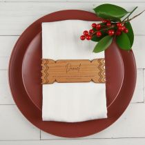 Personalised Engraved Wooden Christmas Cracker Place card with  Customised Joke Present