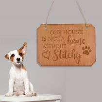 personalised Engraved Wooden Pet Sign for your Home