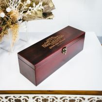 Personalised Engraved Wooden Stain Godparent Godmother Godfather Christening Baptism Wine Box Present